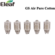 5pcs/lot Eleaf GS Air Pure Cotton Coil Head 0.75ohm E Cigarette Replacement Coils For GS Air 2 Atomizer Tank(China)