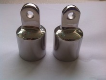 "2 PCS MARINE BOAT YACHT STAINLESS STEEL 1"" EYE END CAP FOR BIMINI TOP CAP HARDWARE"