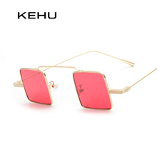 KEHU New Men Steampunk square sunglasses Women fashion Coating high quality Glasses Oculos de sol K9041