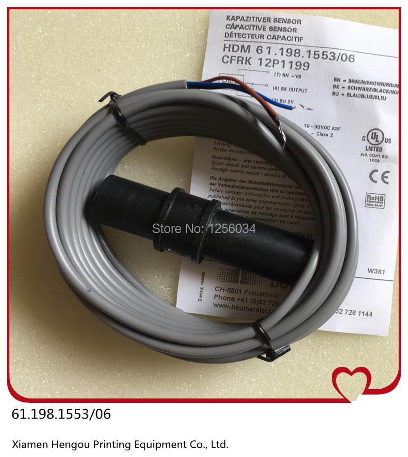 1 piece free shipping printing sensor for heidelberg machine 61.198.1553/06, 61.198.1553<br><br>Aliexpress