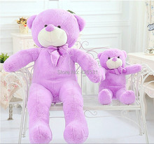 Wholesale  Teddy Bear plush toy  80cm  birthday Valentine's Day gift  Purple Factory outlets plush toy doll  woman Lavender