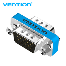 Vention VGA to VGA Adapter Male to Male VGA HD15 Pin Gender Changer Convertor Adapter M/M for Monitors Projectors HDTV(China)