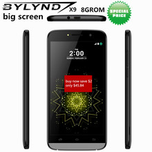 "Original big screen 8GROM mobile phone BYLYND X9 cheap celular 5.5"" 5MP fill light Android 6.0 smartphones 3G Quad core unlocked(China)"
