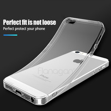 Luxury Ultra Thin Soft transparent TPU Case For iPhone 5 5S SE clear silicone Case Cover For iPhone 5S SE 5 Phone Bag Case