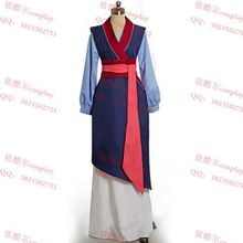 Free shipping new  Adult Clothing  for women Party Mulan Dress New Edition Deluxe Princess Mulan Cosplay from  Mulan