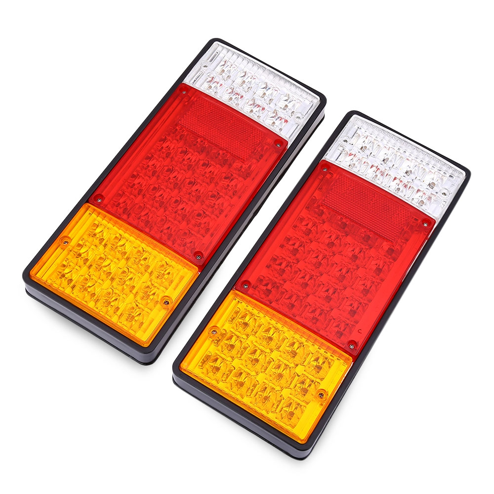 More Than 50000 hours lifespan 1 Pair of 12V Trailer Truck 44 LEDs Waterproof Rear Tail Signal Light<br><br>Aliexpress