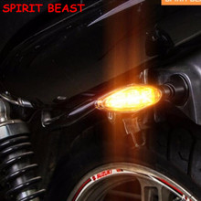 Spirit Beast Motorcycle LED Steering light 2Pcs Flashing Motorcycle LED Turn Signal Light High quality(China)