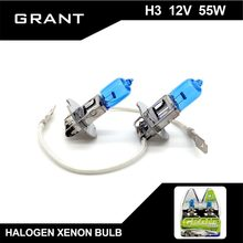 Buy GRANT 1SET H3 Halogen Xenon Bulbs 55W 5000K Super White DC12V Auto halogen lamp Audi TT civic ford mondeo Pajero volvo for $4.21 in AliExpress store