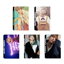 Youpop KPOP BTS Bangtan Boys Album V LOMO Cards K-POP New Fashion Self Made Paper Photo Card HD Photocard LK331