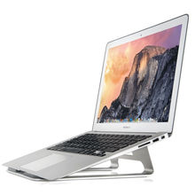AP-1 Laptop Cooling Stand Aluminum Alloy Ergonomic Design 18 Degree Angle Holder Support 11-17 inch Notebook for MacBook Silver(China)