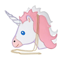 Fun fashion personality fashion trends laser unicorn modeling mini chain shoulder bag ladies handbag messenger bags purse(China)