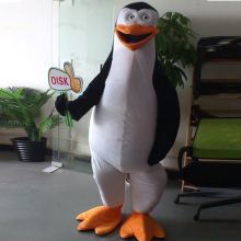 ohlees actual real picture Penguin in Movie Madagascar Mascot Costume Adult Size Outfit Plush Costumes Fancy Dress