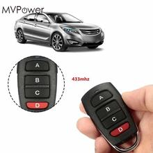 MVpower Universal 433 MHz Cloning RF Remote Control duplicator Electric Garage Gate Door Car Alarm Systems Remote Fob Learn Code(China)