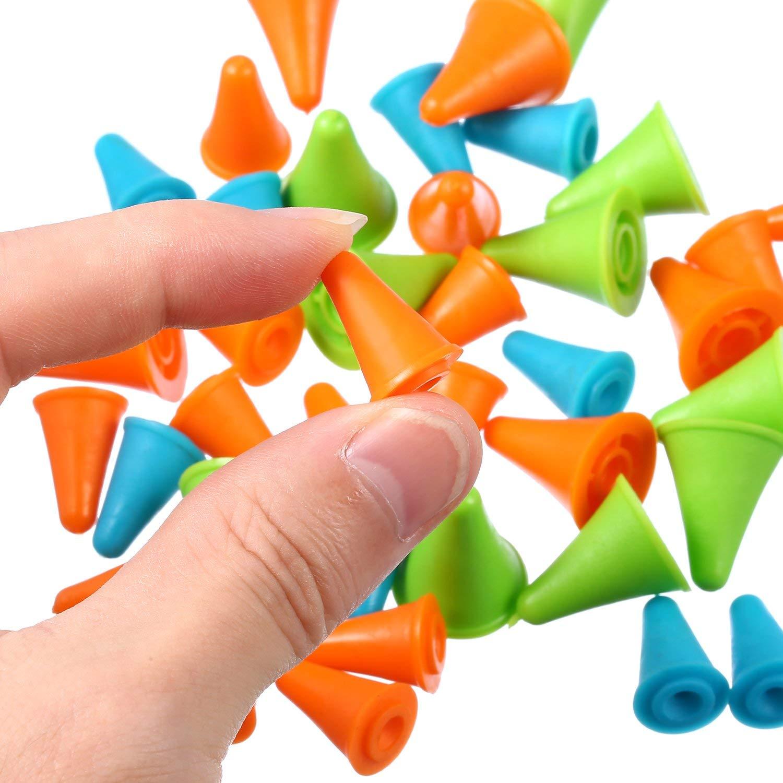 40 PC 2 Tamaño Grande//Protectores de punto de aguja de plástico pequeño para agujas de tejer