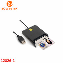 Zoweetek 12026-1 Smart Card Reader DOD Military USB Common Access CAC EMV USB Smart Card Reader For SIM /ATM/IC/ID Card(China)