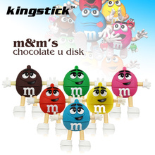 Promotion price Cute Cartoon M&m's Chocolate M Bean 4gb/8gb/16gb/32gb Usb Flash Drive 64gb Pendrive Memory Stick Pen U Disk