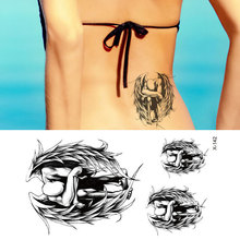 TEMPORARY TATTOO Of the fallen angel wings tattoo design Waterproof RC2328 tattoo stickers
