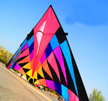 free shipping high quality 6squaremeters large delta kite easy control so beautiful in the sky ripstop nylon fabric kite weifang(China)