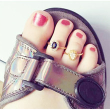 1pc Celebrity Fashion Gold Open Adjustable Toe Ring for Women Creative Foot Finger Rings Wholesale Female Charm Jewelry