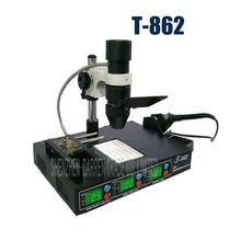 1PC High quality T862 IRDA Infrared BGA SMD Soldering Rework Station T-862 Repair station(China)