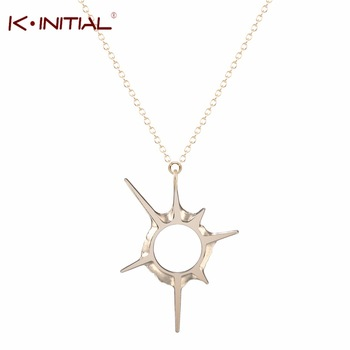 1Pcs Newest Sweet Solar eclipse Pendants Necklaces Sci-fi universe Necklace Silver Plated Chains Necklaces for Women Gift