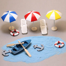 1 set boat/oars/anchor/miniatures/cute/ fairy garden/gnome/moss terrarium decor/crafts/bonsai/bottle garden(China)