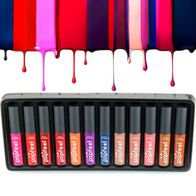 Amazing 12 Colors Long Lasting Bright Moisturize Nutritious Lip Gloss Matte Lipstick Liquid Makeup