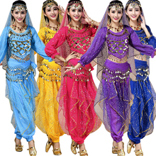 3 pieces Female Indian Party Dance DS Club Clothing Costumes Belly Dancing Costume Dress Women Bellywood Stage dance dress(China)