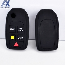 AX Fit For Volvo C70 S40 V50 S60 S80 V70 XC70 XC90 5 Button Silicone Remote Flip Key Cover Case Fob Shell Skin Protector