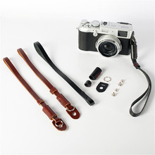 Universal Genuine Leather Camera Wrist Hand Strap Grip For Canon Nikon Sony Fuji Leica Mirrorless/SLR Digital Camera(China)