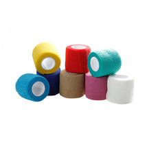 Colorful Self Adhesive Ankle Finger Muscles Care Elastic Medical Bandage Gauze Dressing Tape Sports Wrist Support 5cm 1Piece