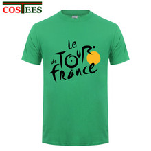 2017 new fashion printed Men T shirt Le Tour de France t-shirt male O-Neck Cotton Casual Short Sleeve bicycle champion Men shirt(China)