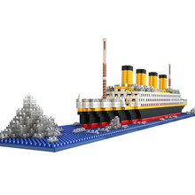DIY Building Blocks Titanic Ship 3D Model Construction Bricks Kids Educational Toys Great Toys Hobbies For Children TF0049