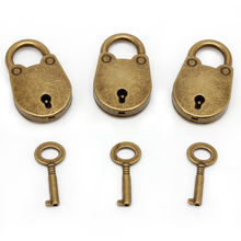 Old Vintage Antique Style Mini Archaize Padlocks Key Lock With key (Lot Of 3) On Sale -Y122(China)