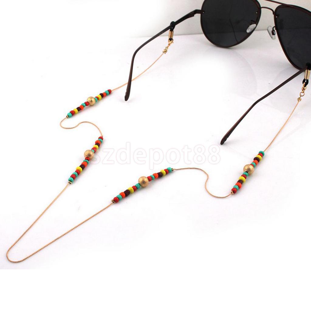 Braid Bold Neck Cord Sports Eye glasses Sunglasses Beaded Rope String Holder