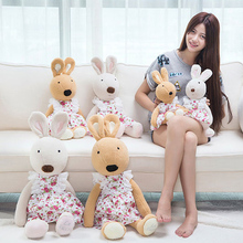 Candice guo! plush toy le sucre rabbit cute lace flower floral dress bunny stuffed doll kids girls lover birthday gift 1pc(China)