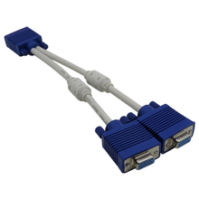 High Quality VGA Extension Cable 1 Computer to 2 Monitor Adapter Y Splitter VGA Cable Male to Female with Free Shipping