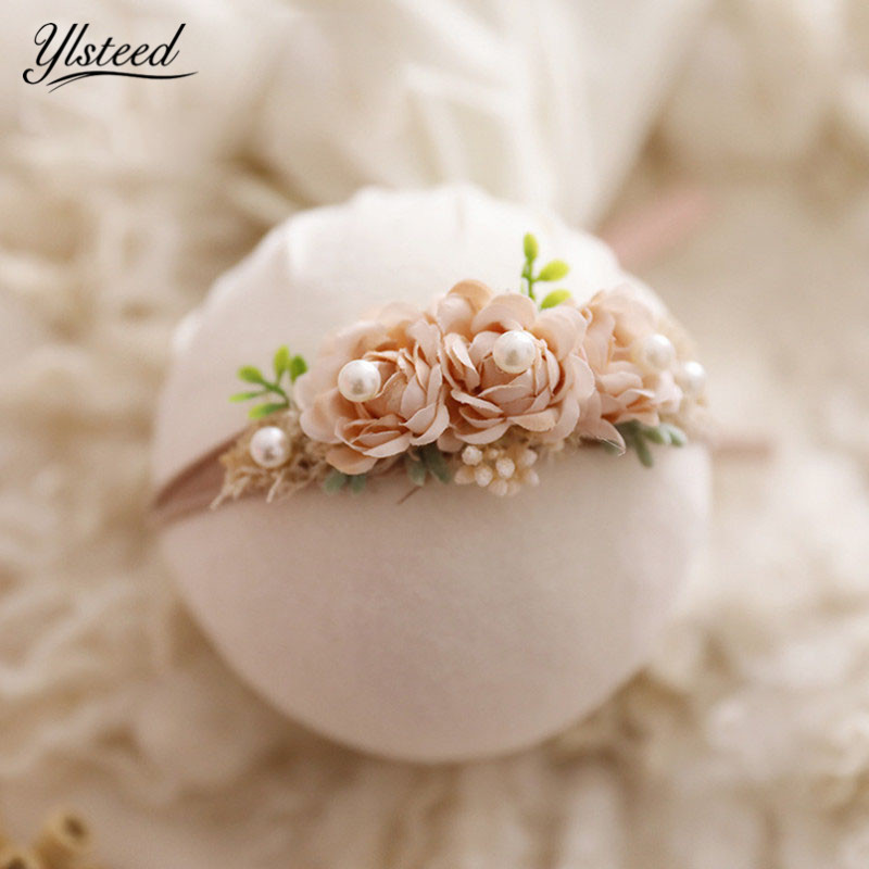 2019 Newborn Photography Props Baby Hair Accessories Infant Shooting Headband Baby Boy Girl Photo Props Floral Baby Haarband(China)