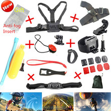 Gopro Accessories Set Hero 4 Sj4000 Kit Chest Belt+Head Band+Wrist Strap+Floating Bobber Monopod Go pro hero3 3+ 4 Camera Mount