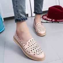 Sweet Cut-Outs Women Flats,Round Toe Ladies Footwear,Fashion Students Walking Casual Shoes,Breathable Slip-On School New Sapatos