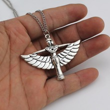 "Trusta 2017 New Women Jewelry Fashion Hand Made Silver Angle Wing Girl Pendant 26"" Necklace Girl  DY149 Free Shipping"