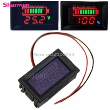 12V Acid lead batteries indicator Battery capacity digital LED Tester voltmeter #G205M# Best Quality
