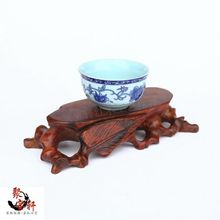 Buddha mammon seal hollow out root base Rosewood carving wooden handicraft accessories furnishing articles