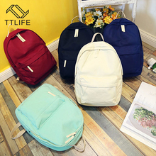 TTLIFE Women Backpack High Quality Canvas Mochila School Bags For Teenagers Girls Top-handle Backpacks Herald Fashion(China)