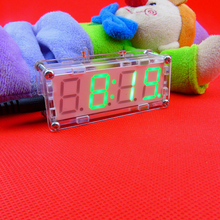 4 Bits Electronic clock production suite LED electronic clock DIY kit SCM LED digital clock parts