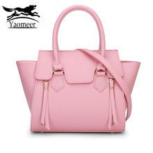 Famous Brand Design Women Handbags High Quality Pu Leather Crossbody Shoulder Bag Female Solid Trapeze Pink Clutch Messenger Bag