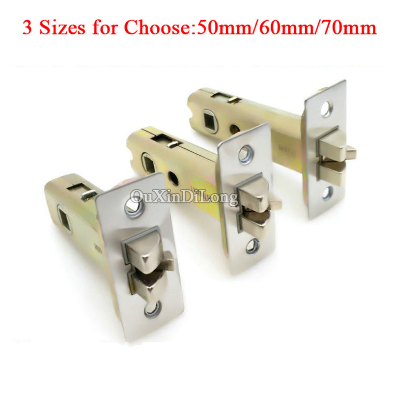 HOT 1PCS European Narrow Mortise Locks Lock body Anti-theft lock cylinder Door lock Repair Parts Center Distance 50mm/60mm/70mm<br>