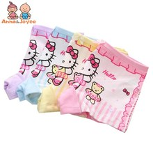 Buy 4Pc/lot Children's Cotton Underwear Female Cartoon Printed Baby Girls Underwear Boxer Briefs Panties 2-10years