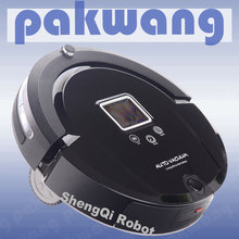 2017 New Arrival Top Grade Auto Robot Vacuum Cleaner With Ultrasonic wall ,Remote Controller , Schedule,cleaners vacuum cleaners(China)