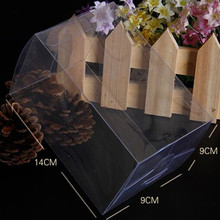 "DHL 80Pcs/Lot 9*9*14cm 3.54""x3.54""x5.51"" Cosmetics Gift Boutique Poly Packing Boxes Clear Plastic PVC Box For DIY Party Crafts"